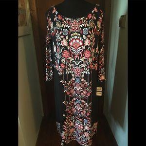JM Collection Cold Shoulder NWT Midi Dress Size XL
